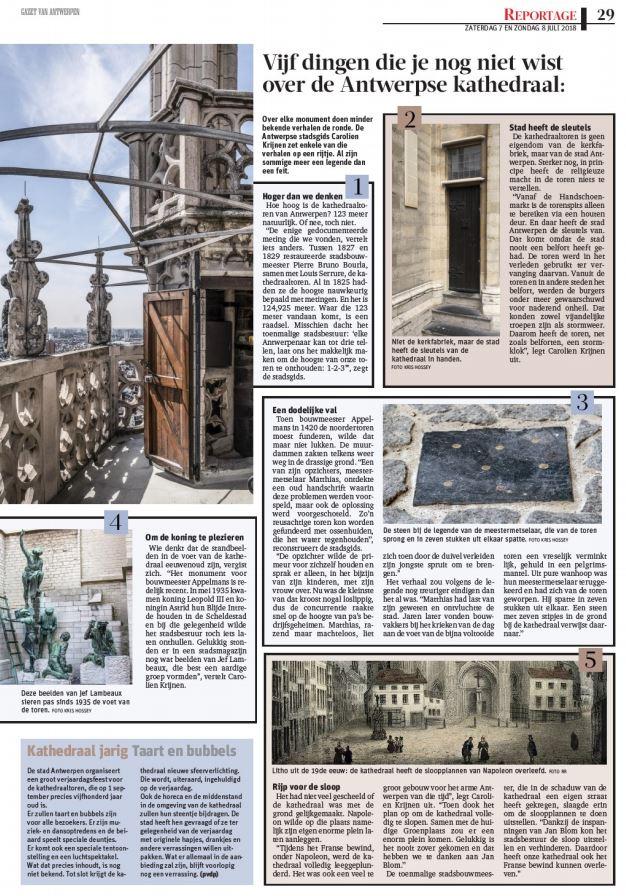 Leuke weetjes over de Antwerpse kathedraaltoren door Carolien Krijnen